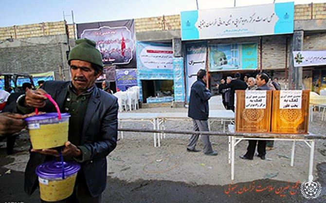 برپایی باشکوه سومین مراسم پخت غلور نذری در محل پروژه مرکز رادیوتراپی و شیمی درمانی استان