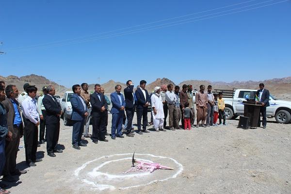 کلنگ زنی احداث پایگاه اورژانس 115 جاده ای ماهیرود در شهرستان سربیشه