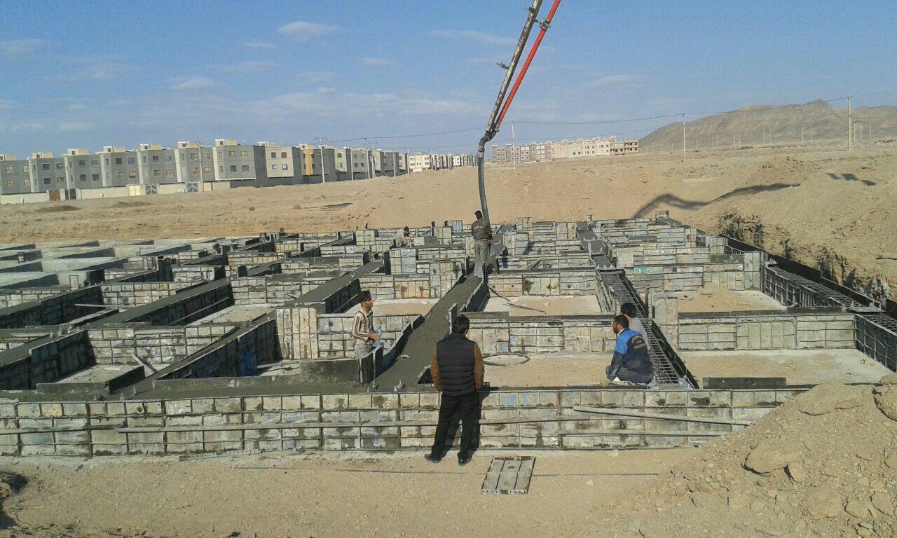 گزارش تصویری از روند احداث  پروژه ستاد شهرستان خوسف