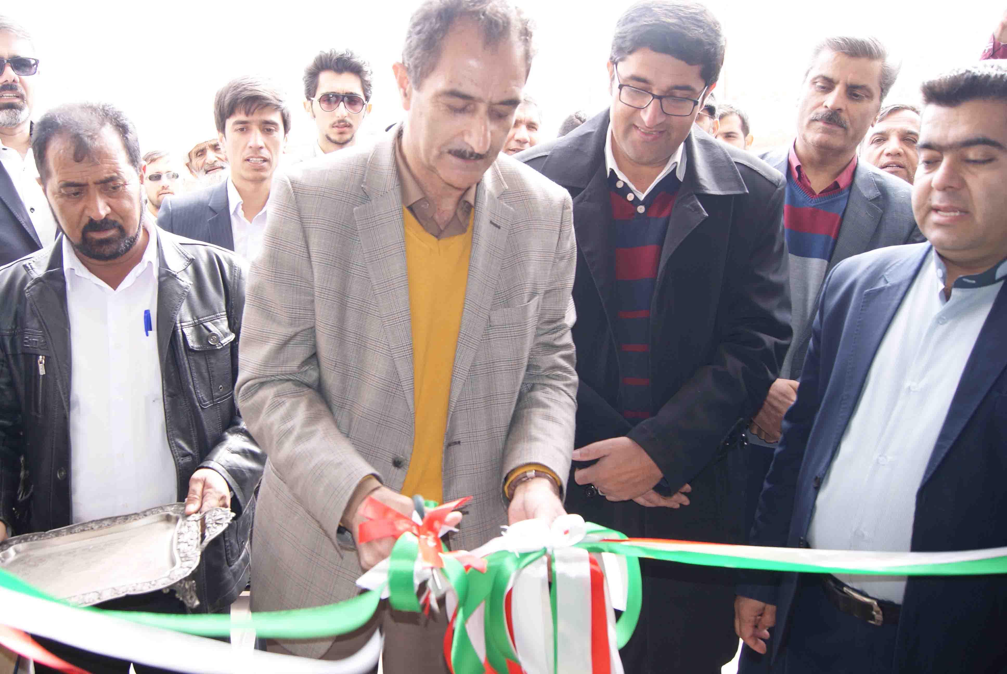 افتتاح پروژه مرکز خدمات جامع سلامت روستایی لانو در شهرستان سربیشه